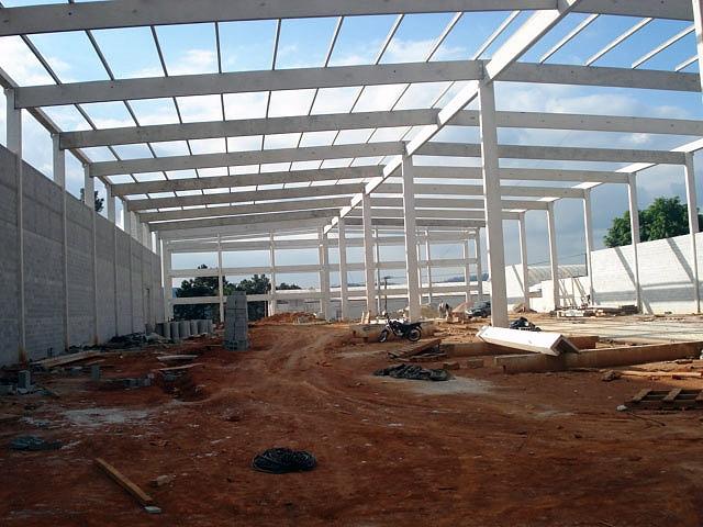 Construção barracão pré fabricado