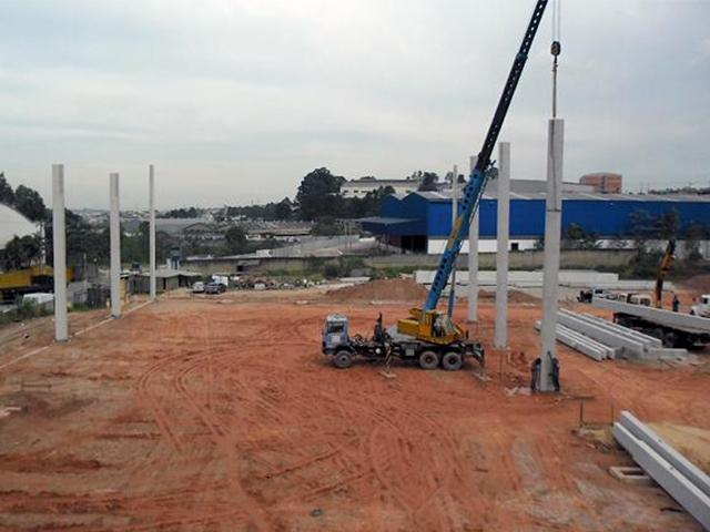 Construção de galpão 500 m2