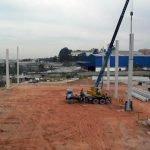 Construção galpão logístico